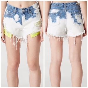 Blank NYC The Essex Now or Never Distressed Shorts